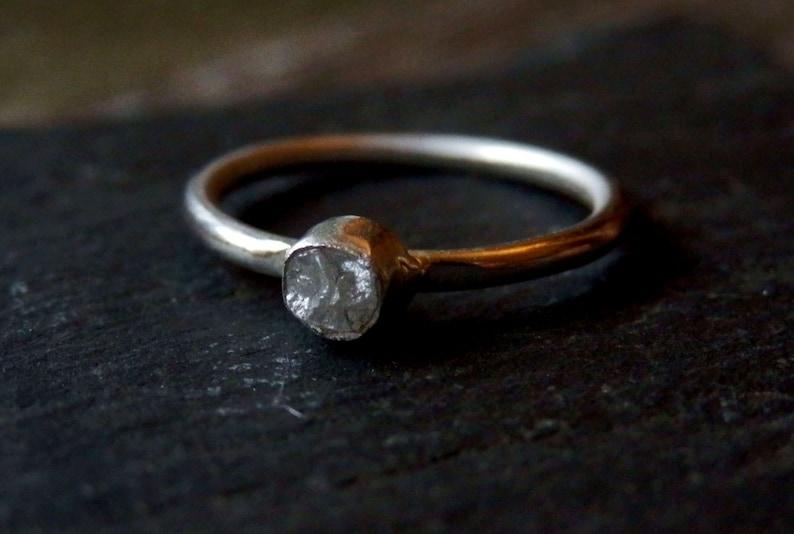 Custom rough diamond ring / raw diamond ring / rough diamond / image 0