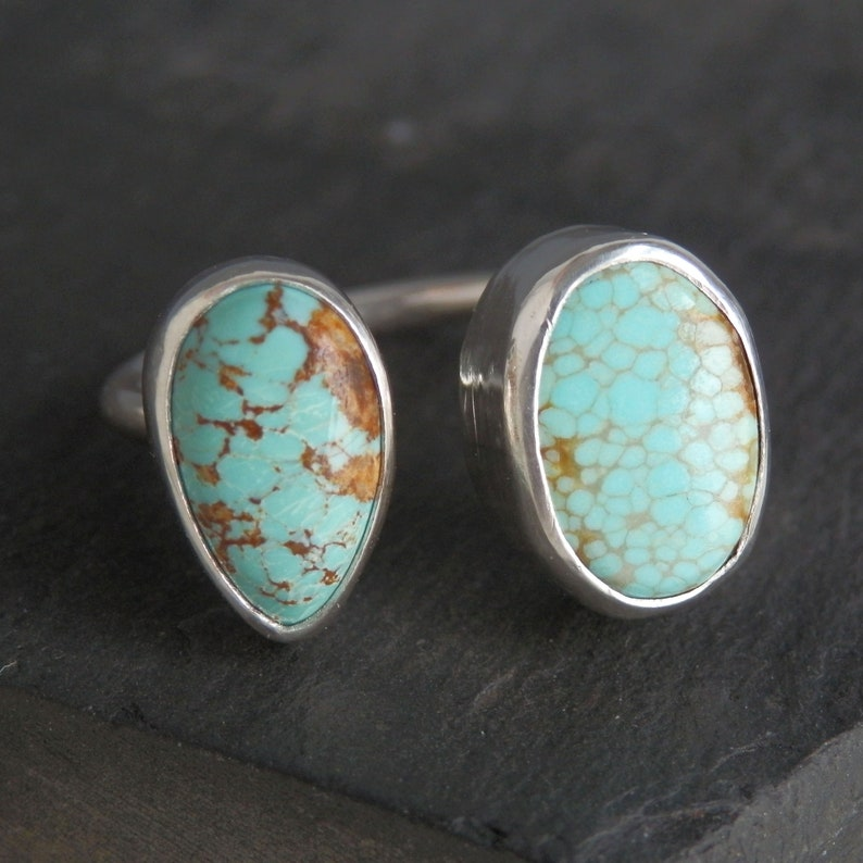 Turquoise ring  adjustable ring  turquoise jewelry  natural turquoise  Number Eight mine  cuff ring  #8 mine turquoise  turquoise cab