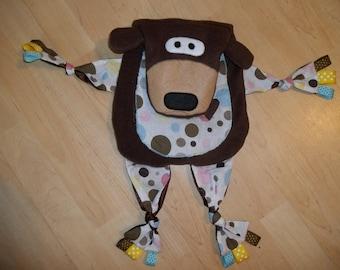 Teddy Bear Lovey Blanket Pal