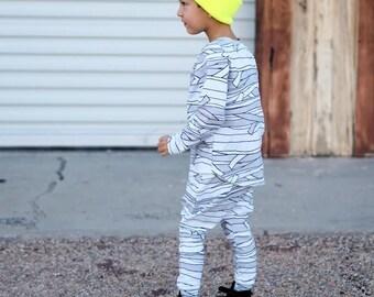 Baby Mummy Costume Long Sleeve Shirt AND Harem Pants OR Leggings, Toddler Mummy Costume :Etsy kids, baby halloween costume, warm, easy