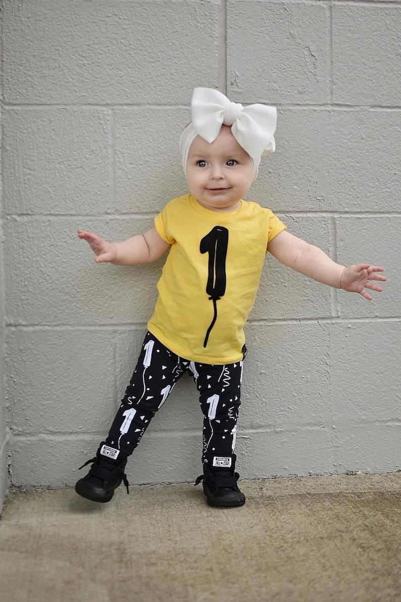 1 ONE 1st Birthday Shirt AND Leggings Toddler Baby Boy