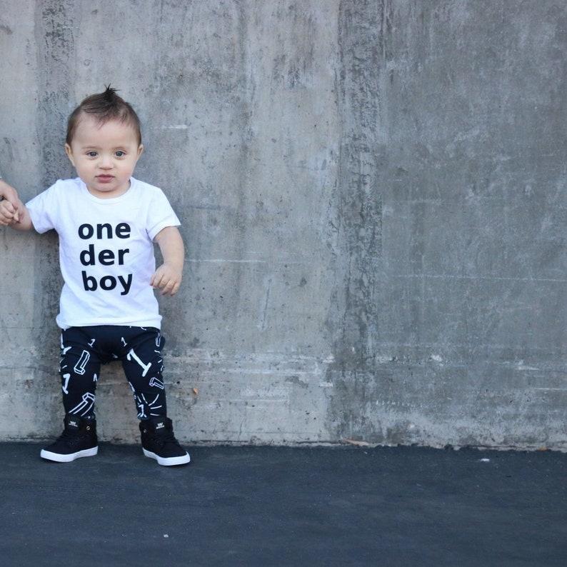 One Der Boy 1st Birthday SHIRT Only First Top Baby