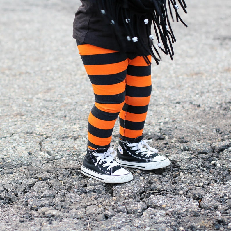 798f478e31504 Halloween Baby Leggings Orange and Black Stripes OR Green and | Etsy