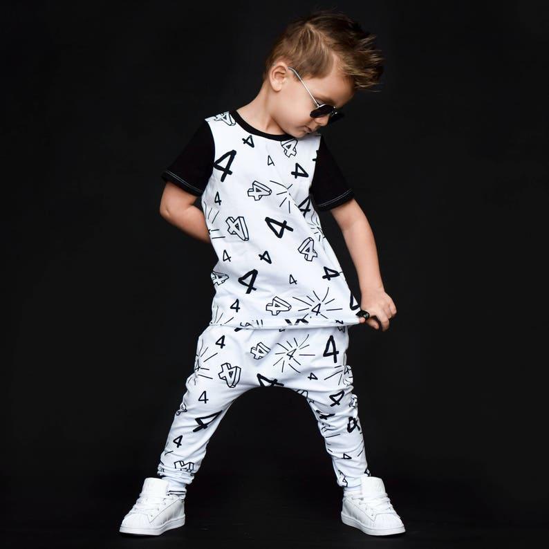 I/'m This Many Fourth Birthday Toddler Long Sleeve T-shirt