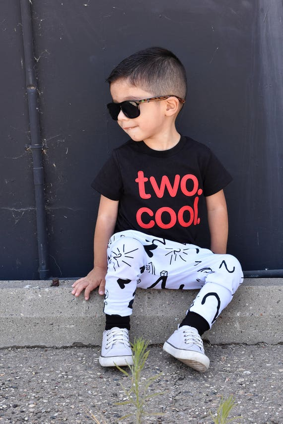 TWO COOL Birthday Shirt AND Pants Toddler Baby Boy Girl
