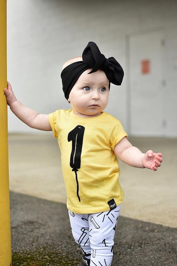 1 ONE 1st Birthday Shirt Balloon Toddler Baby Boy Girl