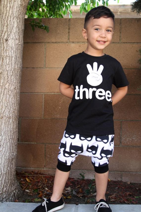 DREI. 3 hand Kleinkind Baby Junge Mädchen 3 Jahre alt | Etsy