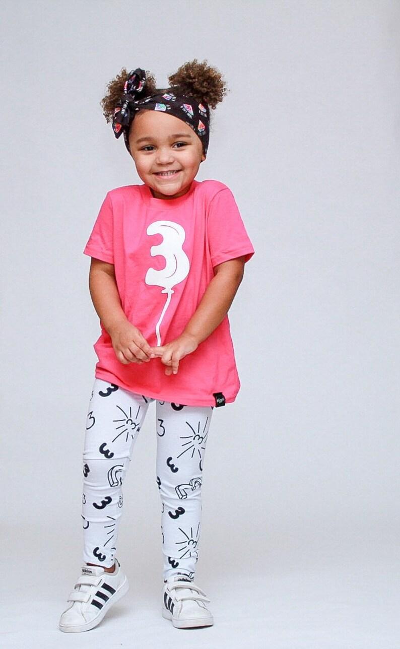 ea8cc8d3b Third Birthday Balloon Shirt AND Leggings Toddler Boy Girl 3 | Etsy