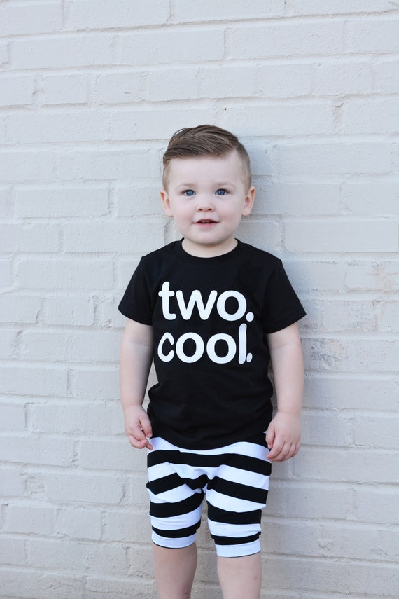 TWO COOL Toddler Boy Girl 2nd Birthday Shirt Choose Your