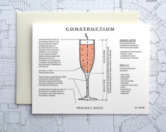 Project Rosé - Instant Download Printable Art - Construction Series