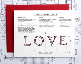 Project Love - Instant Download Printable Art - Construction Series
