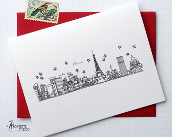 Paris, France - Europe - Instant Download Printable Art - City Skyline Series