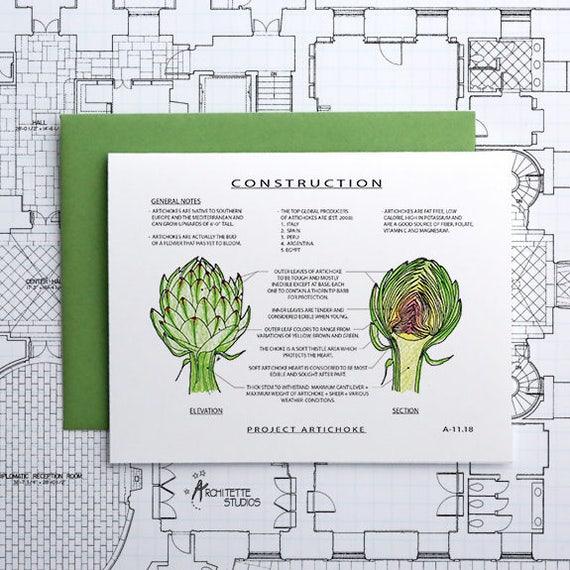 Project Artichoke - Instant Download Printable Art - Construction Series