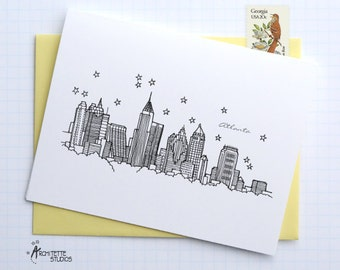 Atlanta, Georgia - United States - Instant Download Printable Art - City Skyline Series