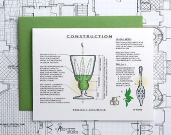 Project Absinthe - Instant Download Printable Art - Construction Series