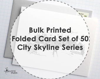 City Skyline Series - Folded Stationery Cards (50)