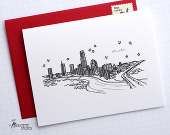 Austin, Texas - United States - Instant Download Printable Art - City Skyline Series