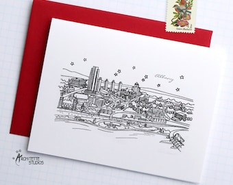 Albany, New York - United States - Instant Download Printable Art - City Skyline Series