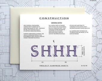 Project Surprise Party Construction - Instant Download Printable Art - Construction Series