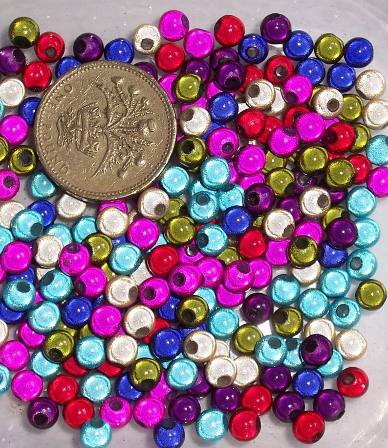 300 x 5mm Multi-Coloured Miracle Beads image 0