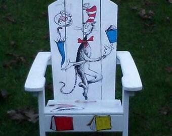 Decoupage Dr Seuss Childrens Chair Olivia Grace Nolan Collection