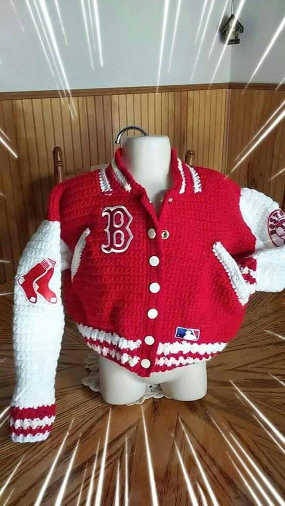 Olivia Grace Nolan World Series Baseball Jacket Red Sox