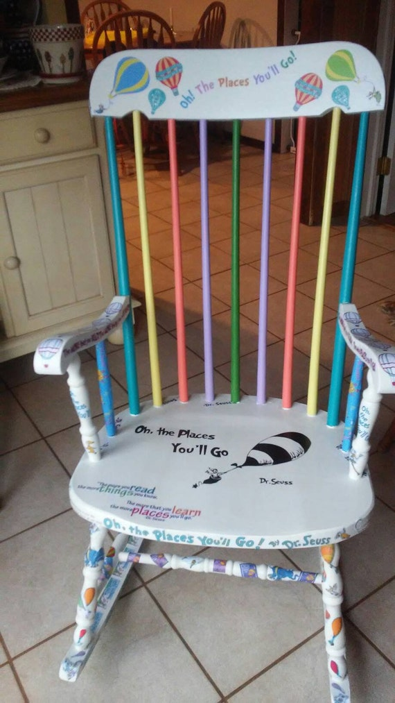 Olivia Grace Nolan Collection Oh The Places You'll Go Rocking Chair