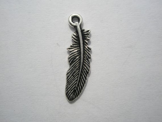 50 Antiqued Silver Copper OR Gold Finish Pewter Small Feather Wing Charms