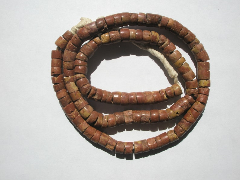 Beads African Bauxite Brown Round Beads 8-9mm