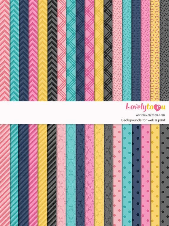 digital paper background scrapbook paper seamless pattern etsy