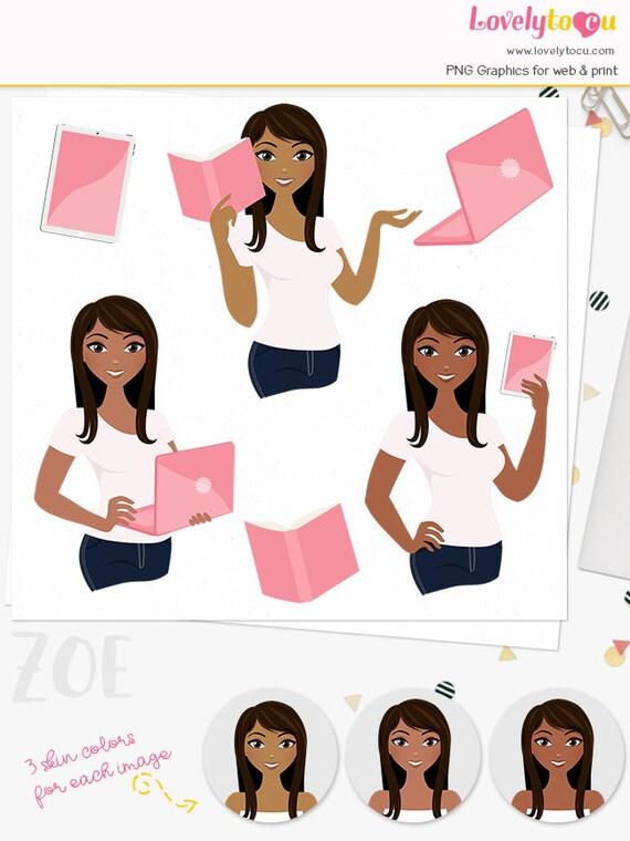 Girlboss Professional Makeup Look: Woman Business Character Clipart Professional Girl Boss