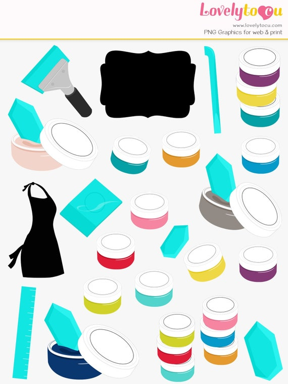 Paint Art Tools Clipart