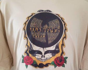 10e8a390a1 WUTANG CLAN ( Grateful Dead ) Double Sided T-shirt Free Shipping