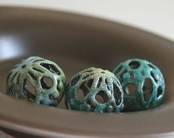 Loopy Garden Magic Torch Fired Enamel Beads - Set of 3