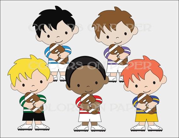 Kleine Fussball Spieler Digitale Clipart Mit Uniform Zahlen Und Ausrustung Wahlen Sie Ihre Nummer Und Farben