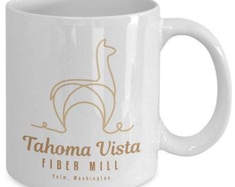 Tahoma vista fiber mill logo mug