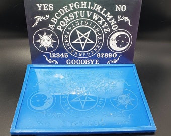 Ouija board mold for resin- 8x5