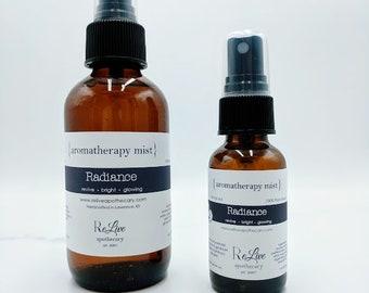 Aromatherapy Mist: Radiance- lavender, geranium & bergamot essential oils, vegan