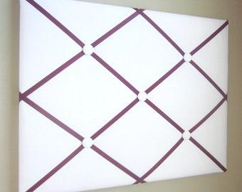 "16""x20"" White French Memory Board, Bow Holder, Bow Board, Vision Board, Photo Display, Business Card Display, Ribbon Board-You Choose Ribbon"