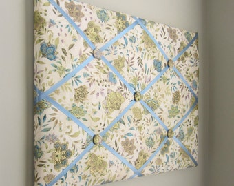 """11""""x14""""  Memory Board Antique Floral, Vision Board, Memo Board, Ribbon Board, Bow Board, Bow Holder, Photo Display, Business Card Holder"""