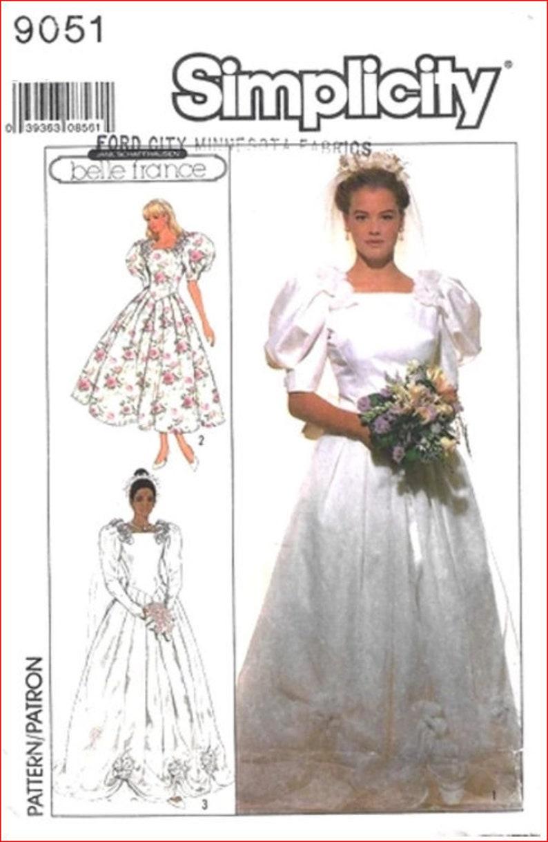 e0553451fc2 Vintage Simplicity 9051 Belle France Misses Wedding Bridal