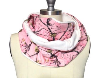 Pink Camouflage Scarf, Camouflage Infinity Scarf, Pink Camo Scarf, Camo Infinity Scarf, Pink Realtree Camouflage