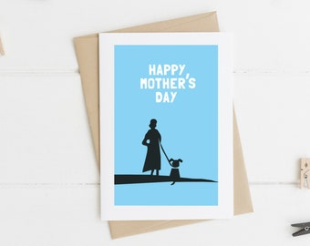 Happy Mother's Day Card - Happy Mother's Day - Dog Loving Mum - Card for Mum - Thanks Mum - Card from Dog - Mothering Sunday