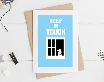 Keep in Touch, Just a Note, Terrier Card, Quarantine Card, Self Isolation, Social Distancing, Friendship Card