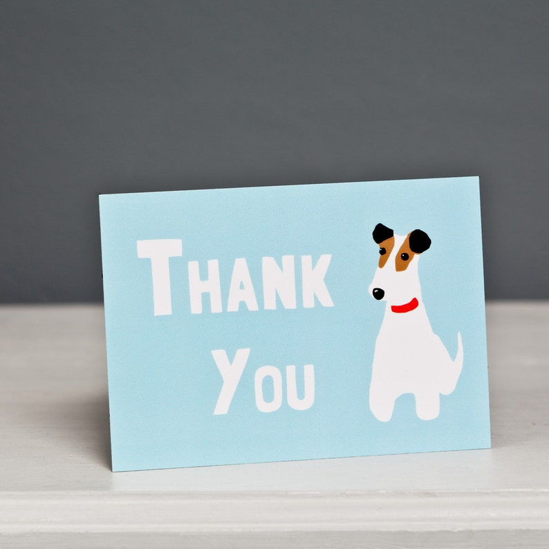 Dog Postcard Terrier Postcard Thank You Postcard Smooth Fox Terrier Fox Terrier