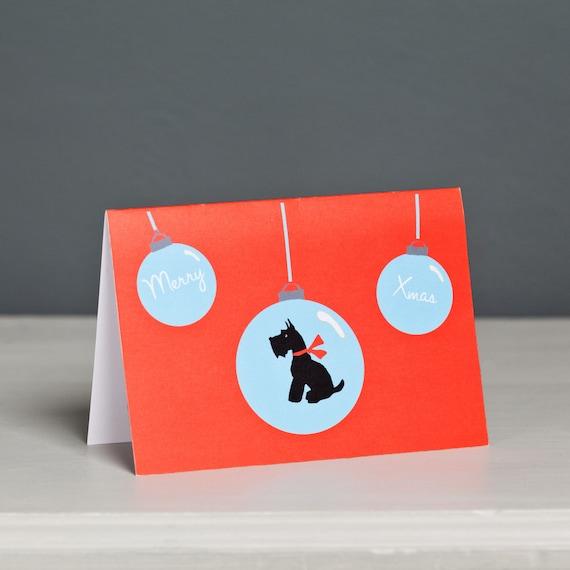 Scotty Scottie Dog Black And Orange Name Card  Holder