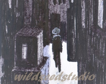 ACEO Print - Lonely Walker