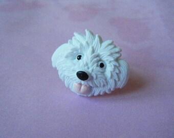 Dog's head ring ♥♥♥♥ ♥ white ♥