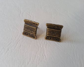 Earrings ♥ ♥ antique spools of thread