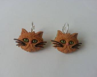 Cat earrings ♥ ♥ red dark ♥♥